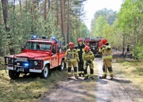 Pożar lasu pod Krążkowem